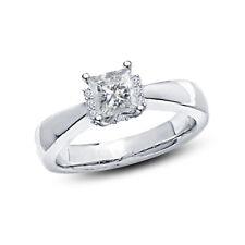 Ladies 14K White Gold Plated 1.10 CT Princess Diamond Engagement Bridal Ring 5