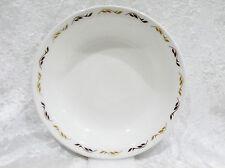 """Bristile / Wembley ware - Rimmed Bowl (7 3/4"""")  light & dark brown leaves vgc"""