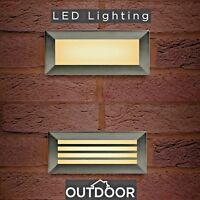 Recessed Brick Wall Light LED IP65 Stainless Steel Outdoor Bricklight Garden