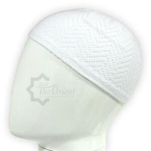 White Men Skull Cap Muslim Islamic Prayer Hat Topi Kufi Head Wear Clothing