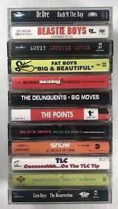 12x HIP HOP Cassette Tape Lot: RARE Beastie Boys Dr. Dre Geto Boys Mase Fat Boys