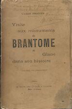 BRANTOME : ses monuments + son histoire = Abbé PRADIER + PERIGORD + ST SICAIRE