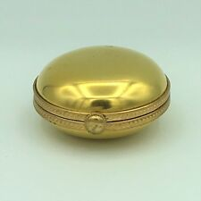 Tiffany & Co. Rare Vintage Gold and Porcelain Pillbox Circa 1920