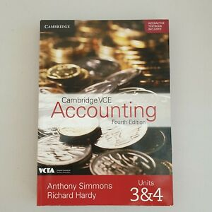 Cambridge VCE Accounting Fourth Edition ISBN 9781108469890 B4