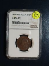1940 Australia Half Penny NGC AU58 BN 1/2P Coin PRICED TO SELL NOW!