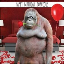 Orangutan Monkey Funny Gogglies 3D Moving Googly Eyes Birthday Greeting Card