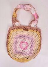 2016 NWT WOMENS BILLABONG DUNES BAG $40 natural pink yellow crochet purse