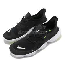 Nike Free RN 5.0 RUN SMALL Black White Volt Men Running Shoes Sneaker AQ1289-003