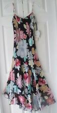 NWT Nine West Santa Monica Womens Blk Multi Floral Silk Summer Party Dress Sz 2