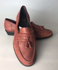 K By Clarks Rusty Brown Leather Tassel Loafers Slip On Shoes - UK 6