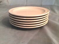 6 Vintage Prolon Ware Melmac, Melamine Peach Bread and Butter Plates 6""