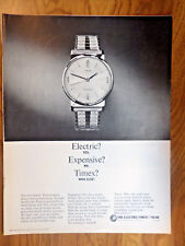 1965 The Electric Timex Watch Ad Electric? Expensive? Timex?
