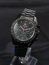 Alpha mechanical chronograph men's watch speedmaster PVD black