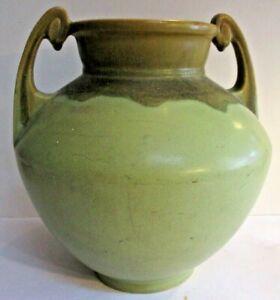 Roseville Carnelian 1 39-9 Vase Green-Brown Massive