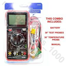 Cen Tech 11 Function Digital Multimeter With Audible Continuity 36 Test Probes