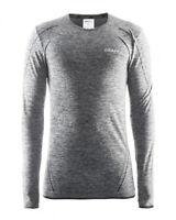 Funktionsshirt Sportshirt CRAFT Active Comfort LS, Herren, lange Ärmel, grau