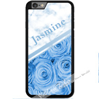 For iPhone 7 Case Cover PERSONALISED Rose Marble Name Y01522