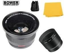 Bower 0.42x FISHEYE Lens w/ Adapter Tube for Canon PowerShot G15 & G16