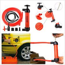 Portable Manual Car Auto Siphon Pump Fuel Gas Transfer Oil Liquid Hand Pumps Kit