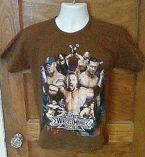 EUC WWE Road to Wrestlemania Brown 100% Cotton T-Shirt YOUTH Medium John Cena FS