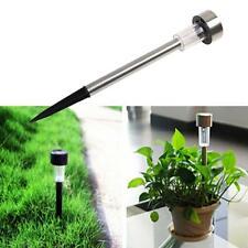 Garden Outdoor Stainless Steel LED Solar Power Landscape Path Light Yard Lamp M