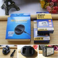 2X Battery+charger For Sony NP-FW50 QX1 RX10 A7R A7S 2 A6300 A5100 NEX-6 NEX-7