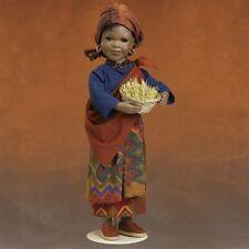 """Nalo"" African Doll /Marlena Nielsen Nrfb Danbury Mint Porcelain Amazing, Unique"