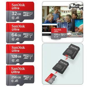 SanDisk ULTRA micro SD Speicherkarte 32GB 64GB 128GB 256GB 100MB/s A1 Original