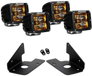 Rigid Radiance LED Fog Light Amber Backlight for Chevy Silverado 1500 2500 3500