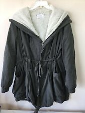 Ladies size M/L soft fleece lined drawstring waist military like jacket
