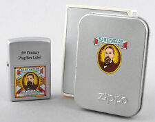 Zippo 2001 Camel RJ Reynolds 19th Century Plug Box Label Lighter (Silver Matte)