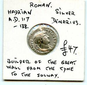 HADRIAN AD 117-138 SILVER DENARIUS ANCIENT COIN!!!..STARTS @ 2.99