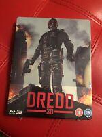 Dredd 2D/3D Blu Ray Steelbook New & Sealed Region B