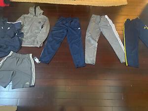 Adidas Lot Boys Large Pants Xl Hoodie Zip New Shorts Pockets Grey Navy Blue