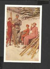 Nostalgia Postcard Advertisement Burberry Winter Sports design 1926