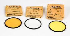 Alpa Caméra 3 filtres diamètre 46 mm. jaune orange UV