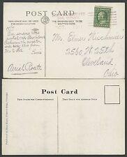 (2) P.C.s (1) UNUSED (1) PMK & FLOWN 1911 HYDRO AREOPLANE MAIL SERVICE HV9640