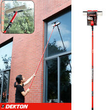 3.5m Telescopic Conservatory Window Glass Cleaner Cleaning Kit Wash Squeegee