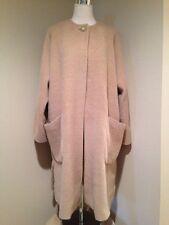 Max Mara  Alpaca Wool Fuzzy One Button Swing Coat Sz 8 EUC