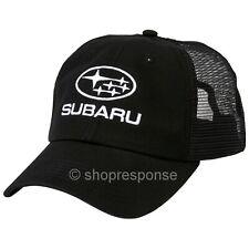 Subaru Star Cluster Mesh Back Cap Hat Embroidered Black Adjustable Official