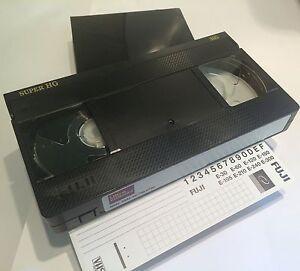FUJI SUPER HG E180 TOP QUALITY VHS VIDEO CASSETTE TAPE NEW IN LIBRARY CASE fbf1d