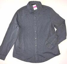 FRESH PRODUCE 1X South Beach Blue NANTUCKET Tonal Stripe Shirt $74 NWT New 1X