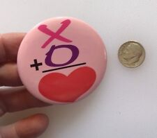X + O = �� Love Valentine'S Day Pinback Button Pin Free Shipping!
