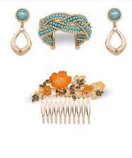 Disney Store Princess Elena of Avalor Jewelry Set Earring Bracelet Hair Pin Comb
