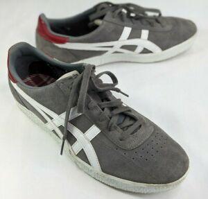 Asics Onitsuka Tiger Stripes Mens Shoes Grey White Size 11.5 D3Q1L