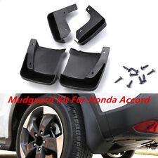 4x Black Flexible Car Splash Guards Mud Flaps Mudguard Kit For Honda Accord Firm