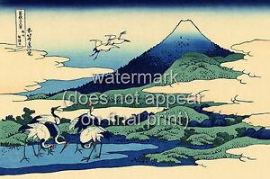 "Katsushika Vintage Painting Poster or Canvas Print ""Tumegawa In Sagami Province"""