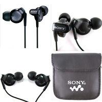 SONY IN EAR EARPHONES HEADPHONE NOISE ISOLATING HEADPHONE MP3 Free pouch UK
