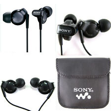 SONY IN EAR EARPHONES HEADPHONE NOISE ISOLATING HEADPHONE MP3 Free pouch UK