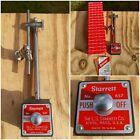 STARRETT Magnetic Base 657AA Push Button Release Indicator Holder Post Snug
